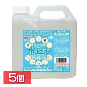 6個セット 洗剤 アルカリ電解水 水ピカ 2L クリーナー 高濃度(pH13.1) お掃除 洗剤 掃除用 クリーナー 電解水:予約品|takuhaibin