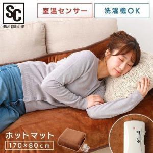 電気カーペット ホットカーペット ホットマット 一人用 ごろ寝マット(カバー無し) ブラウン PHM-F1708-T (D)|takuhaibin