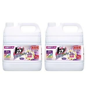 業務用 衣料用洗剤 [2個セット]業務用トップクリアリキッド抗菌 4kg   ライオン (D)|takuhaibin