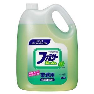 ファミリーフレッシュ 4.5kg 業務用 洗剤 食器 台所洗剤 油汚れ 泡切れ Kao ライムの香り プロフェッショナル 植物由来 洗剤 食器 台所洗剤|takuhaibin