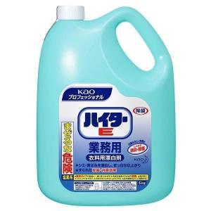 ハイターE 5kg 業務用 洗剤 漂白剤 除菌 消臭 衣料用 Kao 白物 プロフェッショナル 塩素系|takuhaibin
