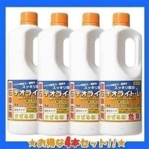 尿石除去剤 デオライト L 1kg*4本 トイレ掃除 トイレ...