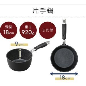 IH対応 フッ素コート フライパン 24cm 片手鍋18cm 2点セット (D) takuhaibin 12