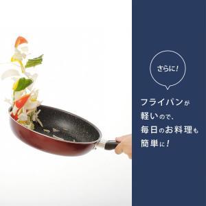 IH対応 フッ素コート フライパン 24cm 片手鍋18cm 2点セット (D) takuhaibin 07