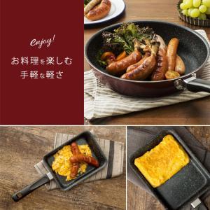 IH対応 フッ素コート フライパン 26cm エッグパン 片手鍋18cm 3点セット (D)|takuhaibin|02