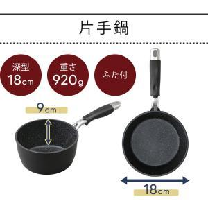 IH対応 フッ素コート フライパン 26cm エッグパン 片手鍋18cm 3点セット (D)|takuhaibin|14