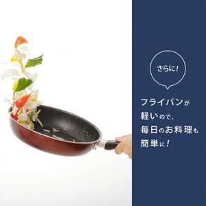 IH対応 フッ素コート フライパン 26cm エッグパン 片手鍋18cm 3点セット (D)|takuhaibin|07