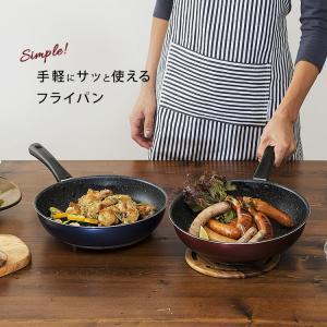 IH対応 フッ素コート フライパン 26cm エッグパン 片手鍋18cm 3点セット (D)|takuhaibin|08