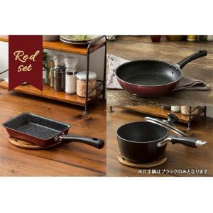 IH対応 フッ素コート フライパン 26cm エッグパン 片手鍋18cm 3点セット (D)|takuhaibin|10