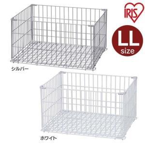 (在庫処分)ワイヤーバスケット LLサイズ キッチン収納 台所収納 ワイヤーコンテナ WCO-LL アイリスオーヤマ|takuhaibin