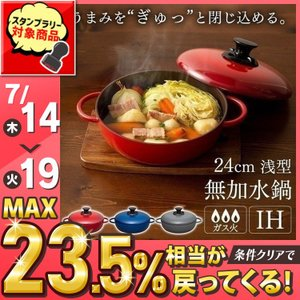 (在庫処分)無加水鍋 鍋 なべ ナベ デザイン無加水鍋 GMKS-24S アイリスオーヤマ敬老の日|takuhaibin