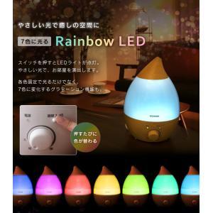 加湿器 超音波式 2.8L アロマ LEDライ...の詳細画像1