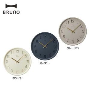 BRUNO ラウンドソリッドウォールクロック BCW027 イデアインターナショナル (D)(B)|takuhaibin