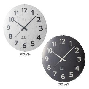 掛け時計 おしゃれ 北欧 電波モノクロウッドクロック BCR013 WH(B) BRUNO|takuhaibin