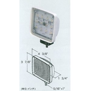 LEDデッキライト(ハイパワー/拡散タイプ1.0WX12LED)|takumarine