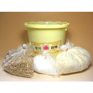 【自宅でお味噌造り】信州味噌 味噌造りキット 熟成樽付き