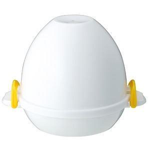 ゆで卵メーカー/調理器具 〔4個用〕 約160×180×131mm 電子レンジ対応 『レンジでらくチ...