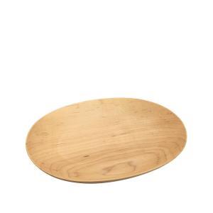 木製 楕円皿 ラインなし Lサイズ(240×190×25mm)