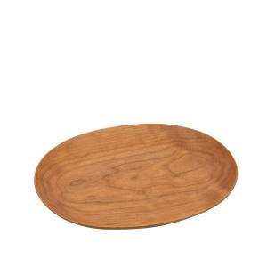 木製 楕円皿 ラインなし Mサイズ(170×120×20mm)