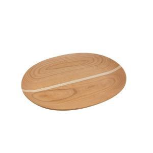 飛騨の家具メーカーが作るクラフト。 家具職人の高い技術で作った木製楕円皿です。 種類が異なる無垢材を...
