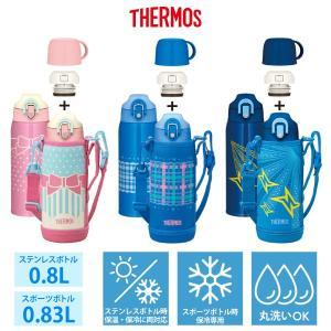 直接飲める保冷専用スポーツボトル。 コップと中せんを付けて、保温・保冷両用のステンレスボトルにもなる...