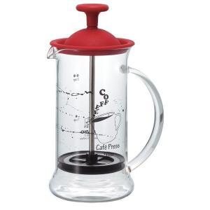 ハリオ カフェプレス スリムS レッド プレス式 コーヒー 1~2杯用 CPSS-2-R HARIO|takumikikaku