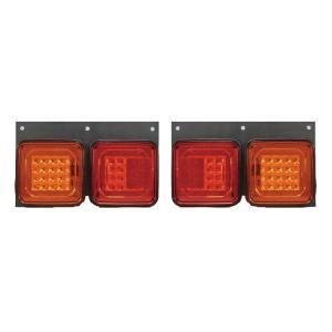 角型2連LEDテールランプセット 24V YL800 トラック・カー用品|takumikikaku
