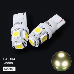 LED5 T10タイプ ウェッジバルブ 4500K HID 24V 2個 トラック・カー用品|takumikikaku