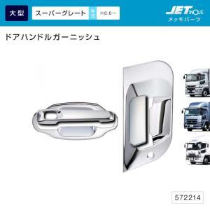 ドアハンドルガーニッシュ ふそう 大型 スーパーグレート用 メッキ トラック・カー用品 takumikikaku