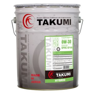 TAKUMIモーターオイル HYBRID【0W-30】エンジンオイル/ ハイブリッド・省燃費車 化学合成油(PAO+HIVI)20L 【送料無料】 takumimotoroil