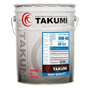 TAKUMIモーターオイル HIGH QUALITY【10W-40】エンジンオイル/ スポーツカー・乗用車・省燃費車 化学合成油(HIVI BASE)20L 【送料無料】 takumimotoroil
