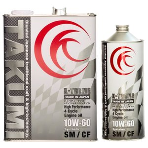 TAKUMIモーターオイル X-TREME【10W-60】エンジンオイル/ レース ドリフト 化学合成油(PAO+HIVI)4L+1L(5L)【送料無料】|takumimotoroil