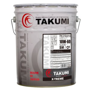 TAKUMIモーターオイル X-TREME【10W-60】エンジンオイル/ レース ドリフト 化学合成油(PAO+HIVI)20L 【送料無料】|takumimotoroil