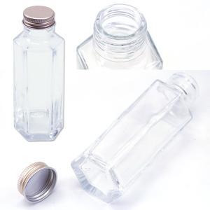 ハーバリウム 六角柱ガラス瓶 100cc 10...の詳細画像1