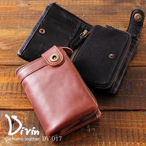 メール便OK Divin デュヴァン DV-017 二つ折り財布 イタリアンレザー 財布 メンズ|takumis