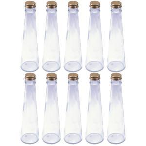 ハーバリウム 円錐ガラス瓶 200cc 10本セット キャップ付 硝子ビン 透明瓶 酒類容器 花材 ウエディング プリザーブドフラワー インスタ SNS インテ|takumis