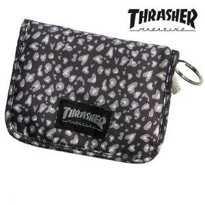 THRASHER スラッシャー ウォレット 00436 THlob パンサーBK/GY 二つ折り財布|takumis