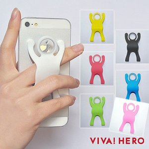 メール便送料無料 スマホの落下防止 VIVA!HERO ビバ!ヒーロー スマホスタンド 三脚 ビバヒーロー|takumis
