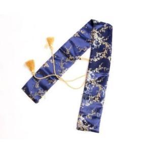この刀袋カッコイイよ 刀袋 青 梅柄 袋 日本刀や剣道の竹刀 しないや模造刀・模擬刀の保管・収納に|takuta2
