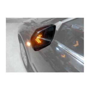 ウィンカー 連動で LED の矢印が光る ドアミラー 矢印型...