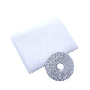 簡単取り付け マジックテープ式 万能 網戸 キット  Mサイズ:160×200cm 網戸の無い窓にも 取付可能 風を取り込み 虫を入れさせない 湿気 換気 部屋 SY-AMIDO|takuta2