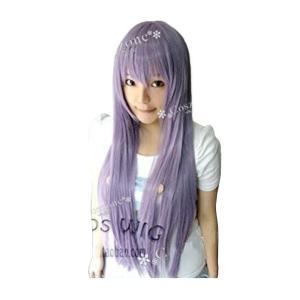 今大人気な紫 ストレート 80cm ロングコスプレウィッグ|takuta2