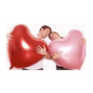 特大 ハート型風船 バルーン 75cm アルミ風船 赤5枚 ピンク5枚 計10枚セット クリスマス 結婚式 パーティー バレンタイン等に|takuta2