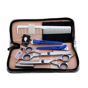 美容師 理容師 トリマー シザー 8点セット カットシザー、セニングシザー、シザーケース、クリーニングクロス、防錆油、ヘアクリップx2、コーム|takuta2