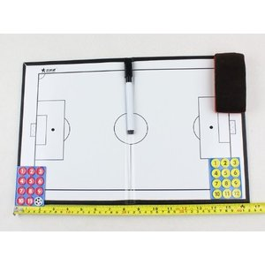 サッカーフットサルの作戦ボードです。 付属品:プレーヤーマグネット2チーム分、マーカーペン2本、ボー...