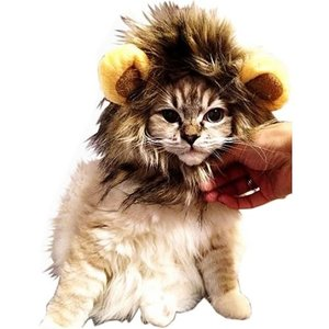 可愛さ 超 アップ   愛 犬 愛 猫 用 ウィッグ   ライオン の たてがみ  耳 付き  おしゃれ 簡単 装着 着せ替え MI-TATEGAMI|takuta2