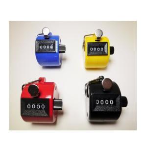 数取器 4桁 手持ち カウンター 4色セット 赤、青、黄、黒 度数計|takuta2