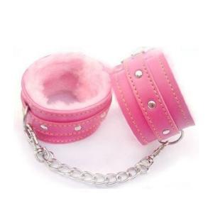 安心安全 SM 手枷 拘束 束縛 コスプレ SMおもちゃ グッズ もこもこ付 ソフトSM  ピンク|takuta2