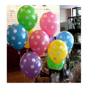 キュートな パステルカラーの ドット柄 バルーン 5色 20コセット パーティー等に 水玉 風船|takuta2