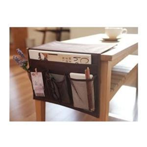 ベッド サイド ポケット  こたつ や テーブル の リモコン ラック 小物 整理  ブラウン|takuta2